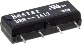 BRS-1A12, герконовое реле 12В 1FormA SIP
