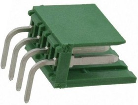 280616-1, Conn Wire to Board HDR 4 POS 3.96mm Solder RA Thru-Hole Carton