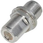 1735, ADAPTER, COAXIAL, N RECEPTACLE-RECEPTACLE, BULKHEAD, 50 OHM