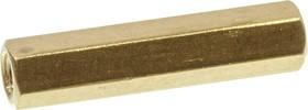 PCHSS-22, стойка латунная для печатной платы М3 шестигранная