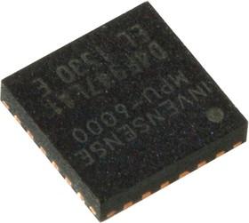 MPU-6000, 3-х осев аксел 2-16g+3-х гироскоп 250-2К гр/с I2C/SPI QFN24