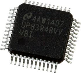 DP83848IVV/NOPB, Микросхема Single Port 10/100 Mb/s Ethernet Physical Layer Transceiver [LQFP-48]