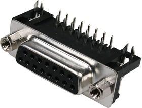 DRB-15FA гнездо 15 pin на плату угл. 7.2мм