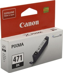 Картридж CANON CLI-471BK 0400C001, черный