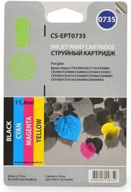 Набор картриджей CACTUS CS-R-EPT0735 черный / голубой / пурпурный / желтый