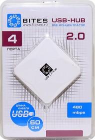 HB24-202WH, Концентратор 4*USB2.0/USB white