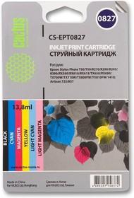Набор картриджей CACTUS CS-R-EPT0827 черный / голубой / пурпурный / желтый / светло-голубой / светло-пурпурный