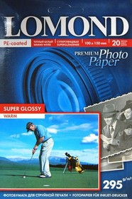 Фотобумага Lomond 1108103 A6/295г/м2/20л./белый глянцевое для струйной печати