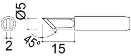 900-M(T)-K, топорик, Жало для паяльных станций ELEMENT