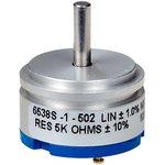 Фото 2/2 6538S-1-502, 5 кОм, Резистор прецизионный многооборотный