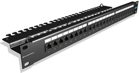 "Патч-панель Brand-Rex IDC (GPCPNLU24002) 19"" 1U 24xRJ45 кат.5e UTP"