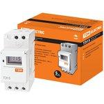 SQ1503-0005, Таймер электронный на din-рейку ТЭ15-1мин/7дн- 16on/off-16А-DIN