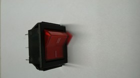 Фото 1/2 IRS-202-1B7D (красный), Переключатель с подсветкой ON-ON (15A 250VAC,20A 12VDC) DPDT 6P