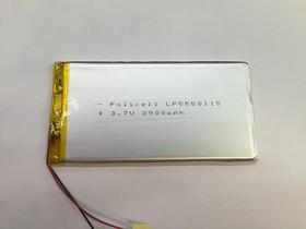 LP5558115-PCM, Аккумулятор литий-полимерный (Li-Pol) 3900мАч 3.7В, с защитой, PoliCell