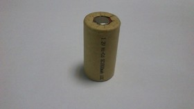 GEB-1800SC, Аккумулятор никель-кадмиевый Ni-Cd 1800mAh (1шт) 1.2В(23х43мм)