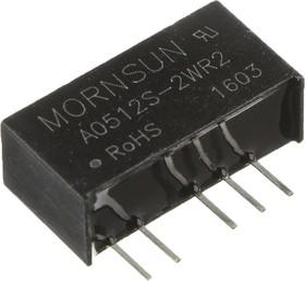 A0512S-2WR2, DC/DC преобразователь, 2Вт, вход 4.5-5.5В, выход 12, -12В/83мА