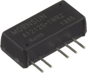 A1212S-1WR2, DC/DC преобразователь, 1Вт, вход 10.8-13.2В, выход 12, -12В/42мА