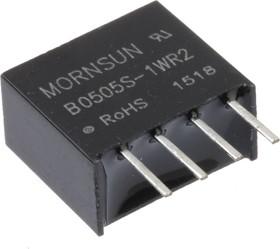 B0505S-1WR2, DC/DC преобразователь, 1Вт, вход 4.5-5.5В, выход 5В/200мА