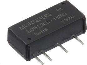 B0512LS-1WR2, DC/DC преобразователь, 1Вт, вход 4.5-5.5В, выход 12В/84мА