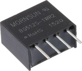 B0512S-1WR2, DC/DC преобразователь, 1Вт, вход 4.5-5.5В, выход 12В/84мА