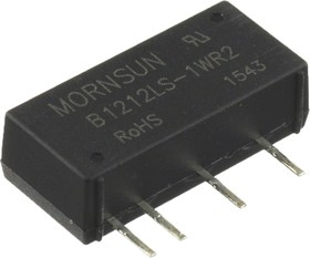 B1212LS-1WR2, DC/DC преобразователь, 1Вт, вход 10.8-13.2В, выход 12В/84мА