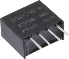 B1212S-1WR2, DC/DC преобразователь, 1Вт, вход 10.8-13.2В, выход 12В/83мА