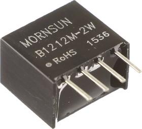 B1212M-2W, DC/DC преобразователь, 2Вт, вход 10.8-13.2В, выход 12В/167мА