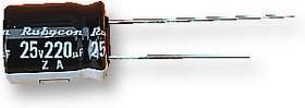Фото 1/3 100ZL68MEFC10X16, Электролитический конденсатор, миниатюрный, 68 мкФ, 100 В, Серия ZL, ± 20%, Радиальные Выводы