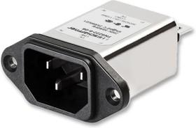 FN9222R-20-06, IEC фильтр, 0.33 мкФ, 250 В AC, От Электромагнитных Помех, от Радиопомех, 23 А, Быстрое Соединение