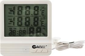 Фото 1/2 GARIN Точное Измерение WS-4 термометр-гигрометр- часы-календарь с внешним датчиком, Метеостанция