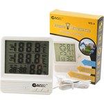 Фото 2/2 GARIN Точное Измерение WS-4 термометр-гигрометр- часы-календарь с внешним датчиком, Метеостанция