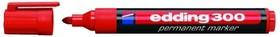 Edding 300 1,5-3 мм(красный), Маркер перманентный,круглый наконечник,нестираемый