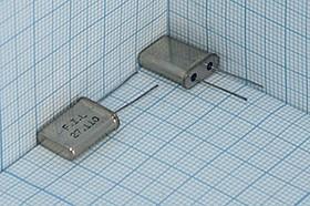 Фото 1/4 кварцевый резонатор 27.110МГц в корпусе HC49U, 3-ья гармоника, нагрузка 20пФ, 27110 \HC49U\20\\\\3Г (F.I.L 27.110)