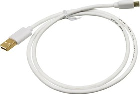 Кабель USB2.0 2A Square, USB A (m) - micro USB B (m), GOLD , 0.75м, белый