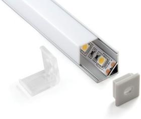 LL-2-ALP003, Квадратный угловой алюминиевый профиль для LED ленты (16mm)
