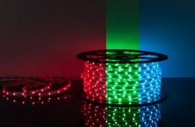 Фото 1/2 30Led-7.2W-IP65-220V RGB, Лента светодиодная 1 метр, 30SMD(5050)/m, 7.2Вт/м, 220В