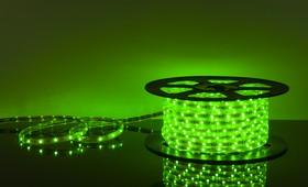 Фото 1/2 30Led-7.2W-IP65-220V зеленый, Лента светодиодная 1 метр, 30SMD(5050)/m, 7.2Вт/м, 220В