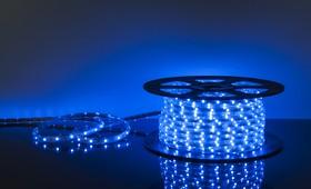 Фото 1/2 30Led-7.2W-IP65-220V синий, Лента светодиодная 1 метр, 30SMD(5050)/m, 7.2Вт/м, 220В