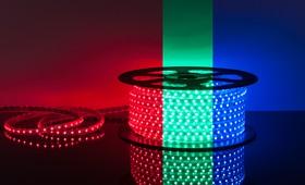 Фото 1/2 60Led-14.4W-IP65-220V RGB, Лента светодиодная 1 метр, 60SMD(5050)/m, 14.4Вт/м, 220В