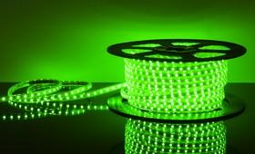 Фото 1/2 60Led-14.4W-IP65-220V зеленый, Лента светодиодная 1 метр, 60SMD(5050)/m, 14.4Вт/м, 220В