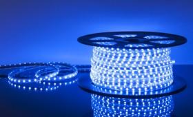 Фото 1/2 60Led-14.4W-IP65-220V синий, Лента светодиодная 1 метр, 60SMD(5050)/m, 14.4Вт/м, 220В
