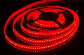 192Led-15W-IP65-24V красный, Лента светодиодная 1 метр, 192SMD(3528)/m, 15Вт/м, 24В