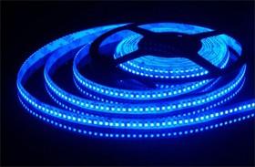 192Led-15W-IP65-24V синий, Лента светодиодная 1 метр, 192SMD(3528)/m, 15Вт/м, 24В