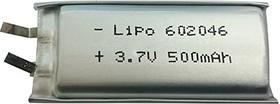 LP602045(6), Аккумулятор литий-полимерный (Li-Pol) 500мАч 3.7В, PoliCell