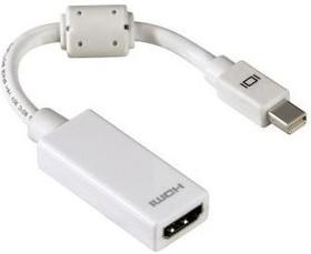 Адаптер Display Port HAMA H-53246 HDMI (а) - mini DisplayPort (m) ферритовый фильтр белый [00053246]