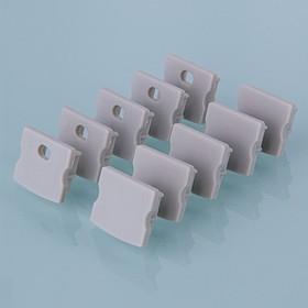 ZLL-2-ALP001-R, Заглушки для накладного алюм.профиля для LED ленты (15mm) (компл. 10 пар)