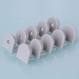 ZLL-2-ALP005, Заглушки для потолочного алюм.профиля для LED ленты (20mm),oval (компл. 10 пар)