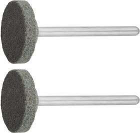 35916, Круг ЗУБР абразивный шлифовальный из карбида кремния на шпильке, P 120, d 20x3,2мм, L 45мм, 2шт