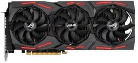 Фото 1/6 Видеокарта Asus PCI-E 4.0 ROG-STRIX-RX5700XT- O8G-GAMING AMD Radeon RX 5700XT 8192Mb 256bit GDDR6 1840/14000/ HDMIx1/DPx3/HDCP Ret