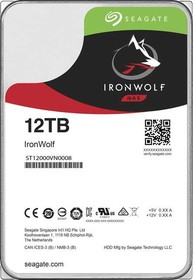 "Фото 1/2 Жесткий диск Seagate Original SATA-III 12Tb ST12000VN0008 Ironwolf (7200rpm) 256Mb 3.5"""